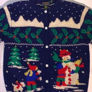 Charter Club Jane Justin Christmas Cardigan